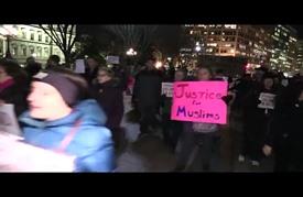 مظاهرة مناهضة للإسلاموفوبيا والعنصرية أمام البيت الأبيض