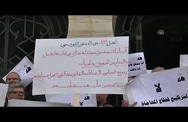 آلاف المحامين التونسيين يقتحمون ساحة الحكومة