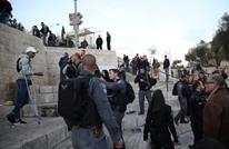 الاحتلال يعتدي على المقدسيين في باب العامود (شاهد)