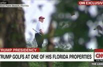 ترامب يستعين بشاحنة كبيرة خلال لعبه الجولف.. لماذا؟ (شاهد)