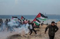 إصابة فلسطينين اثنين بعد قمع الاحتلال لمسير بحري بغزة (صور)