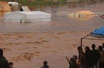 هكذا باتت مخيمات النازحين بشمال سوريا بفعل الأمطار (شاهد)