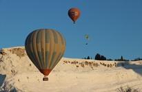 """متعة ركوب المناطيد فوق """"الجنة البيضاء"""" غرب تركيا (صور)"""