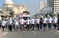 """""""ماراثون السلام"""".. أول حدث رياضي بغزة لذوي الإعاقة (شاهد)"""