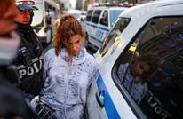 سيدة تصدم بسيارتها عددا من المتظاهرين في نيويورك