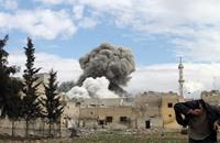 النظام  يقصف الغوطة الشرقية بعد إعلانه وقف إطلاق النار