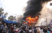 دخول البنزين لحرق ضحايا فض اعتصام رابعة (فيديو)