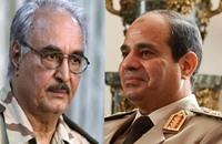حفتر لفضائية مصرية: نؤيد قصف ليبيا ونعاون جيش مصر