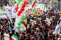 """هتاف """"الموت لآل سعود"""" يتصدر مسيرات """"انتصار الثورة"""" بطهران"""