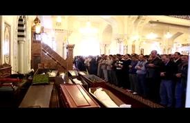 مراسم تشييع جثمان أحمد البنا نجل مؤسس جماعة الإخوان بالقاهرة