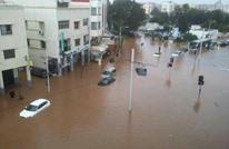 أمطار طوفانية تدمر منازل وتشل الحركة بعاصمة المغرب (شاهد)