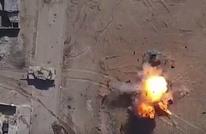 """فيديو مثير لقصف مدرعة من طائرة مسيّرة لـ""""الدولة"""" (شاهد)"""