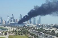 حريق هائل يندلع في دار الأوبرا الكويتية (فيديو)