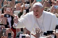 مشهد نادر لبابا الفاتيكان يمشي وحيدا بسبب كورونا (شاهد)