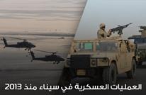 للعام الخامس.. عمليات عسكرية في سيناء (إنفوجرافيك)