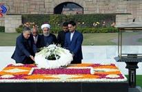 ماذا كتب روحاني في سجل زوار النصب التذكاري لغاندي؟
