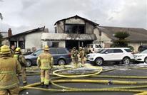 طائرة تسقط فوق منزل بكاليفورنيا وتقتل أربعة من سكانه (فيديو)