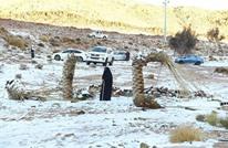 الثلوج تتساقط شمال غرب السعودية للمرة الثانية (فيديو)