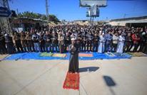 """صلاة جمعة قرب حاجز للاحتلال بغزة رفضا لـ""""صفقة القرن"""""""
