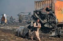 احتراق 100 صهريج وقود على الحدود الأفغانية الإيرانية (شاهد)