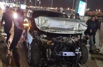 """إصابة """"عمرو أديب"""" بحادث سير مروع في القاهرة (صور)"""