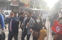 """مظاهرات بالعاصمة التونسية بذكرى اغتيال """"بلعيد"""" (شاهد)"""