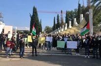 احتجاج طلابي لفلسطينيي 48 بجامعة تل أبيب ضد شرطة الاحتلال