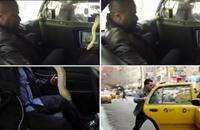 """سائق تكسي أمريكي يستقبل ركابه بأفعى .. """"فيديو"""""""