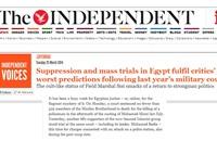 """""""إندبندنت"""": محاكمات مصر """"مسرحية مضحكة"""""""