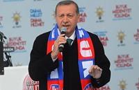 """أردوغان يعد بتوجيه """"صفعة قوية"""" لخصومه بالإنتخابات"""