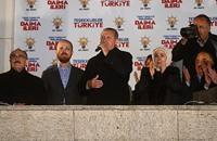 45.56 بالمئة نسبة التصويت الأولية لحزب أردوغان