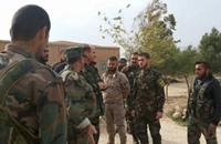 ضابط من فيلق قدس الإيراني يجتمع بعشائر عربية بالقامشلي