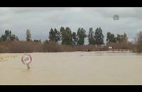 الأضرار الناجمة عن الفيضانات في محافظة جندوبة التونسية