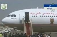 """سلم طائرة """"تحيا مصر"""" يعطل السيسي في الخرطوم (فيديو)"""