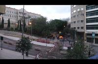 قطع للطريق أمام السراي الحكومي وسط بيروت (فيديو)