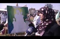 """لوحات فنية في غزة إحياءً لذكرى """"يوم الأرض"""" (فيديو)"""