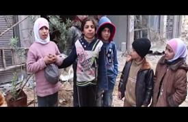 إحياء ذكرى الثورة السورية بحي جوبر بزراعة أشجار على ركام القصف