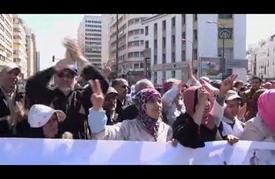 مسيرة احتجاجية للمعلمين المتدربين ضد الحكومة المغربية