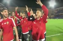 لاعبو منتخب المغرب يحتفلون بالتأهل بطريقة مجنونة (فيديو)