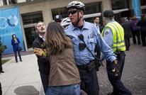 الأمن التركي يشتبك مع محتجين في واشنطن قبل كلمة أردوغان
