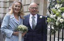 قطب الإعلام البريطاني مردوك يحتفل بزواجه بعارضة أزياء سابقة