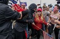 اندلاع مشاجرات بمظاهرة مؤيدة لترامب بكاليفورنيا (صور+فيديو)
