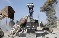 """باحث إيراني يهاجم تركيا بعد تدمير تمثال """"كاوة الحداد"""" بعفرين"""