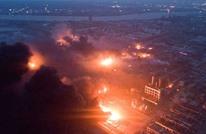 انفجار ضخم في مصنع بالصين يودي بحياة العشرات (فيديو)