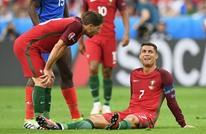 رونالدو يخرج مصابا في مباراة البرتغال وصربيا