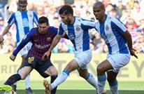 ثنائية ميسي تقود برشلونة للفوز بديربي كتالونيا (شاهد)