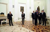 """""""الأناضول"""" ترد على جدل تمثال """"كاترين"""" في لقاء بوتين وأردوغان"""
