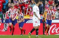 """أتلتيكو مدريد يتعثر مجددا في """"الليغا"""" قبل قمة ليفربول (شاهد)"""