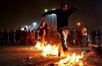 """8 قتلى ومئات الإصابات باحتفالات """"الأربعاء الأحمر"""" بإيران"""