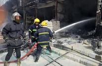 حريق كبير يلتهم أحد الأسواق وسط بغداد (شاهد)
